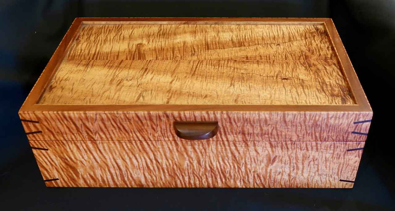 Curly Koa Jewelry Box... by Mr. Marcus Castaing - Masterpiece Online