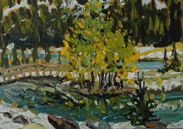 Cascade Pond, Banff N... by Mr. Dennis Brown - Masterpiece Online