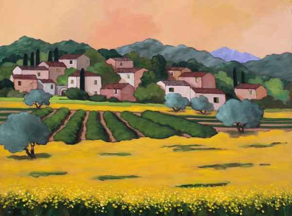 Le Village aux Colzas by  Lorraine  Jordan - Masterpiece Online