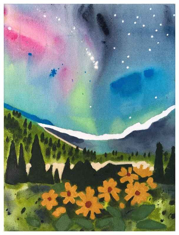 Nights Light Art Card by  Alissa Durling - Masterpiece Online