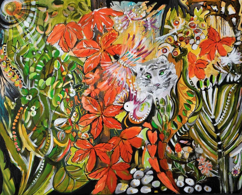 Automne et tigre blanc by   RELINDIS - Masterpiece Online