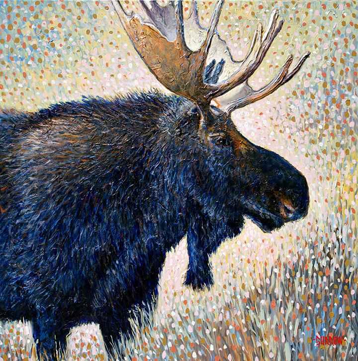 Blue Moose by Mr John Burrow - Masterpiece Online