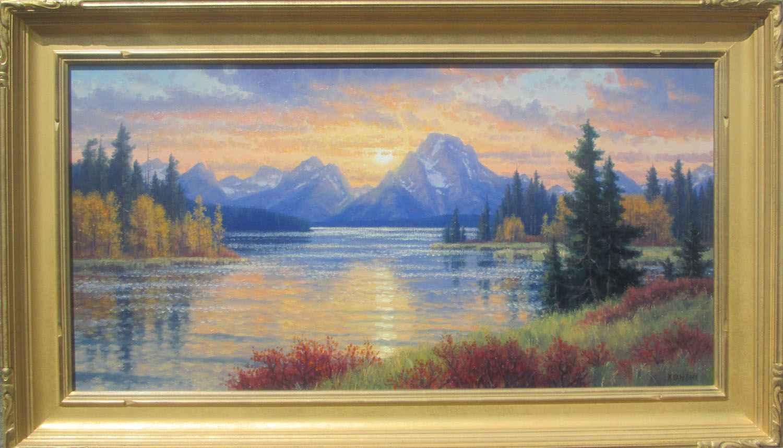 Sunset On Mt. Moran by  Randy Van Beek - Masterpiece Online