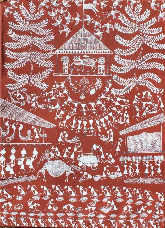 La fête du dieu Tigre by  WARLI ART - Masterpiece Online