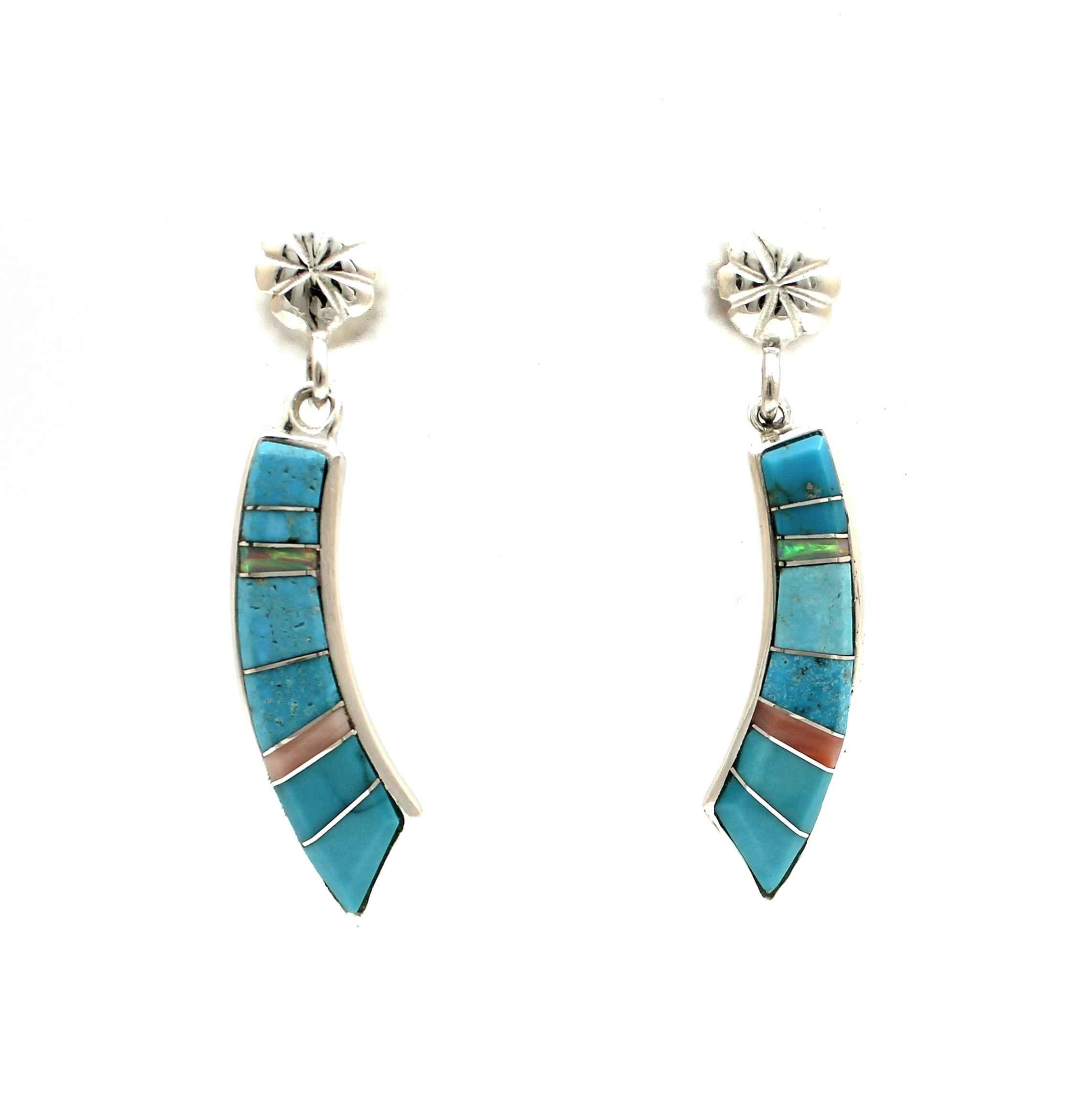 Rainbow Earrings by  Ben Nighthorse - Masterpiece Online