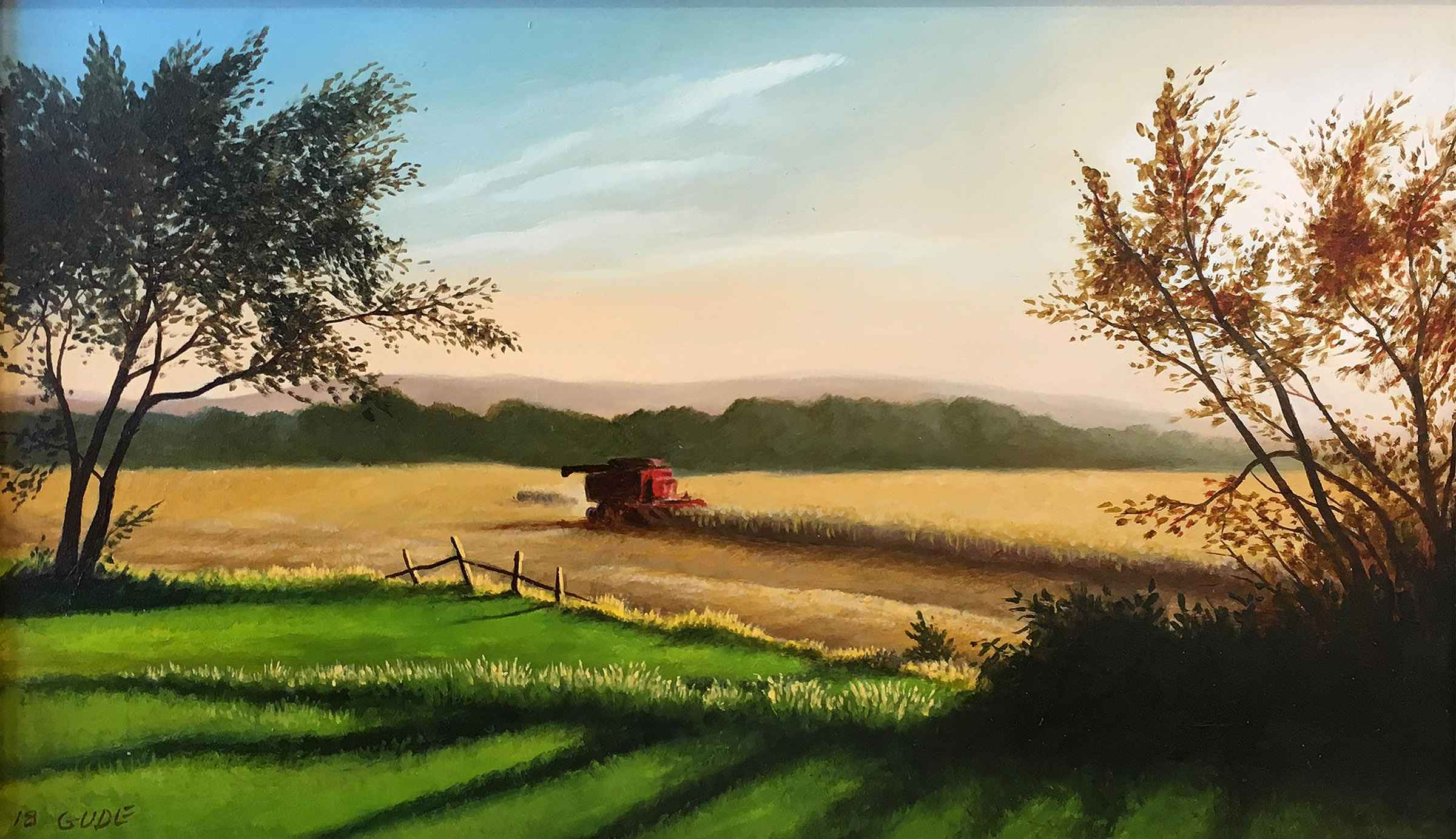 Little Corn Harvest  by  Anthony Benton Gude