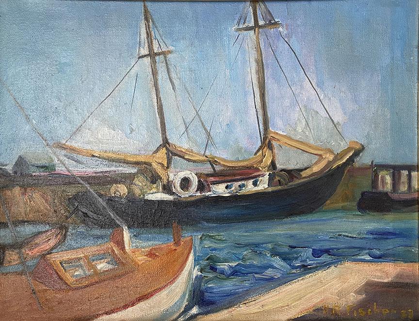 Untitled (Boats in Mi... by  Hulda Rotier Fischer - Masterpiece Online