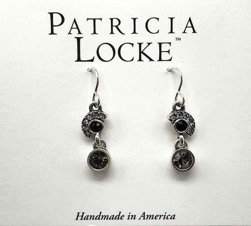 Lana Earrings in Silver, Black & White