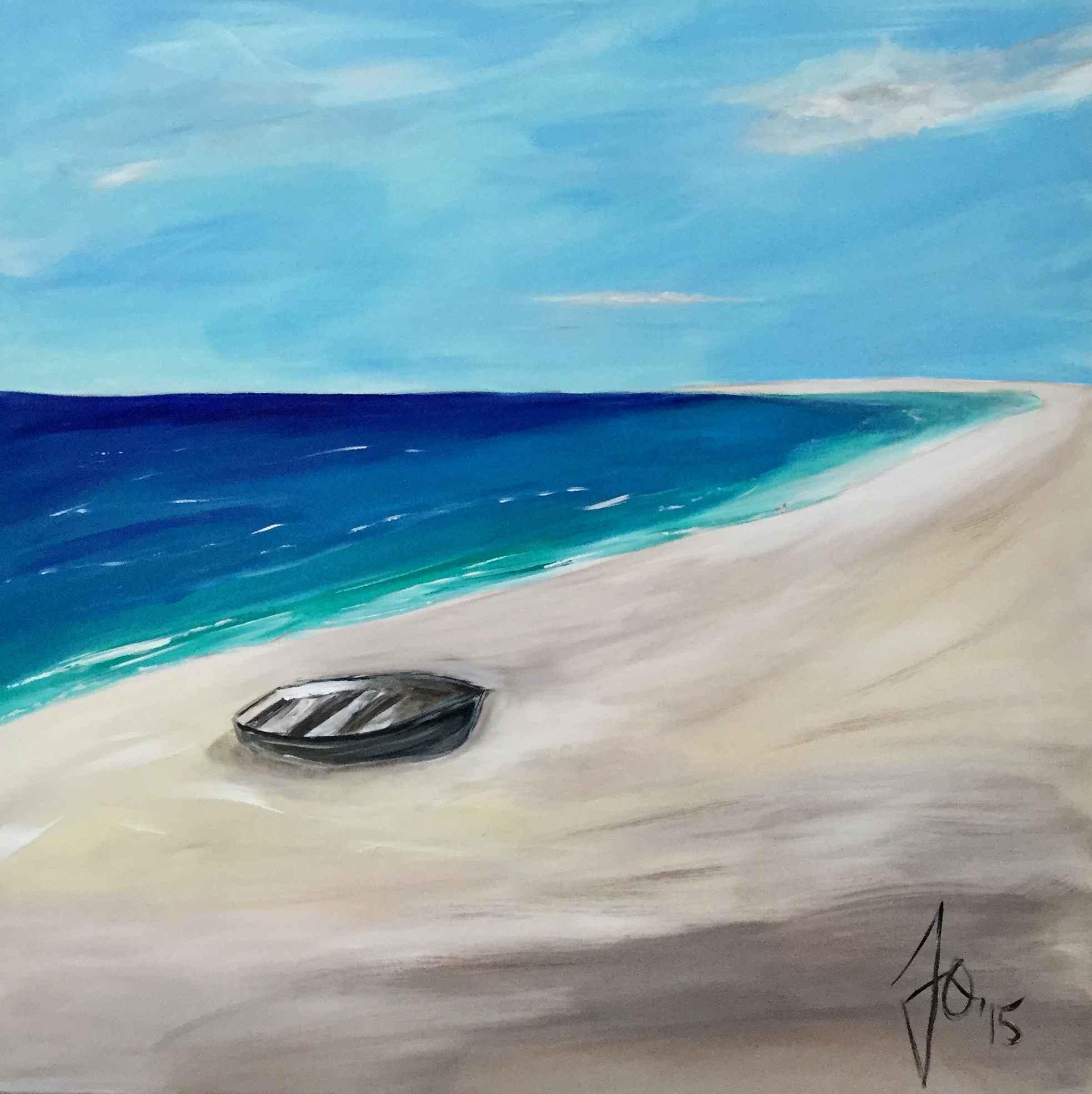 Boat on the Beach by Mme Ioana JITARU - Masterpiece Online