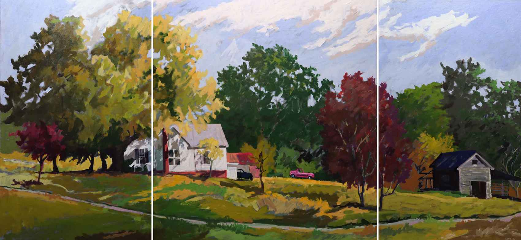 Farmstead Triptych by  Joseph Cave - Masterpiece Online