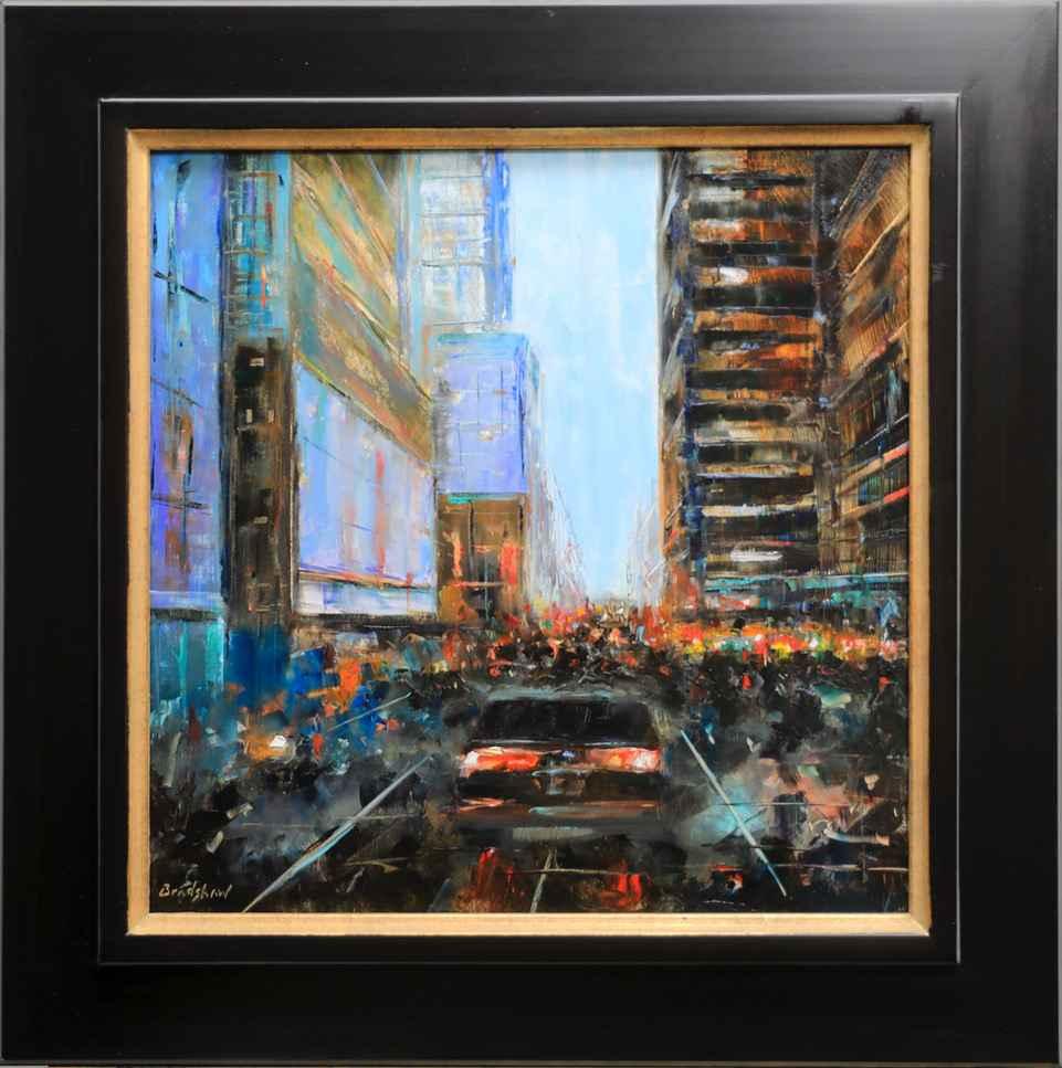 Crowded Street by  Bob Bradshaw - Masterpiece Online