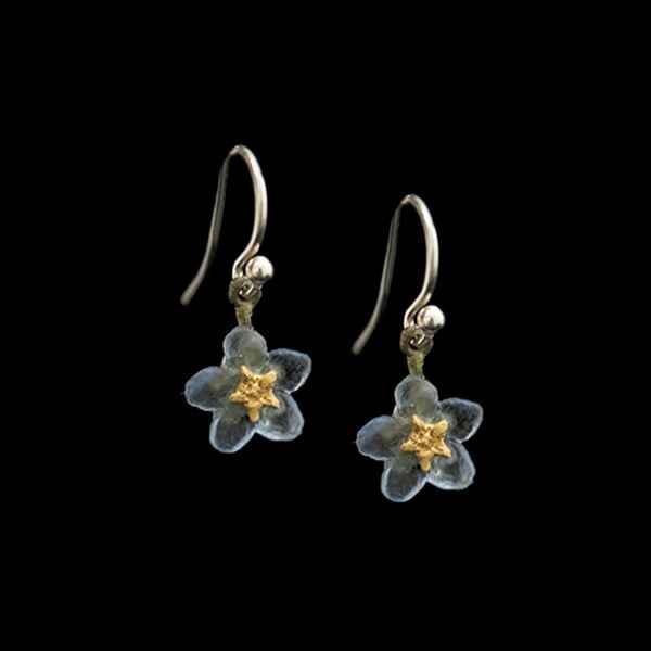 Forget Me Not Single Flower Wire Earrings