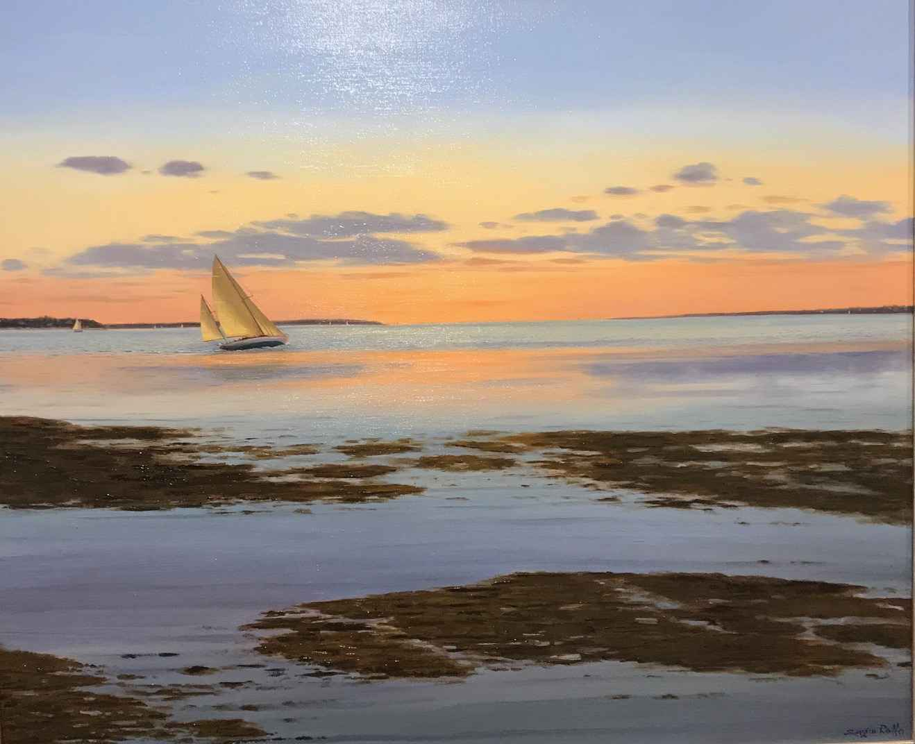 Sunset Sail at Low Ti... by  Sergio Roffo - Masterpiece Online