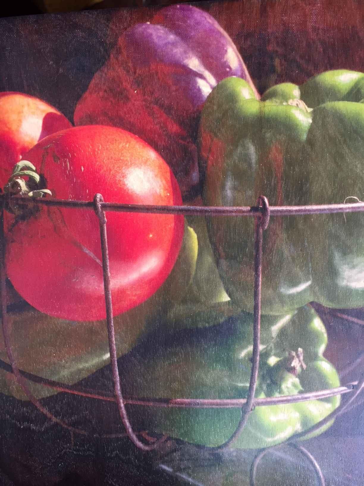 Garden Veggies (on wo... by  Melinda Fager - Masterpiece Online