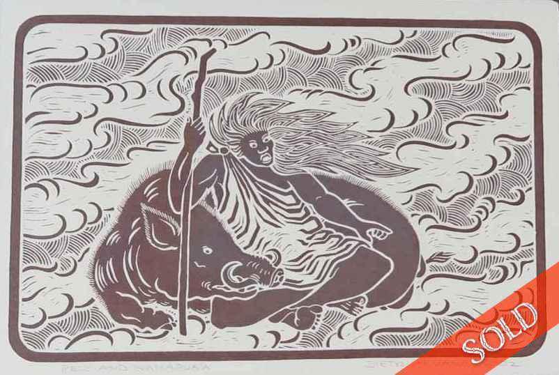 Pele and Kamapua'a by  Dietrich Varez (1939-2018) - Masterpiece Online