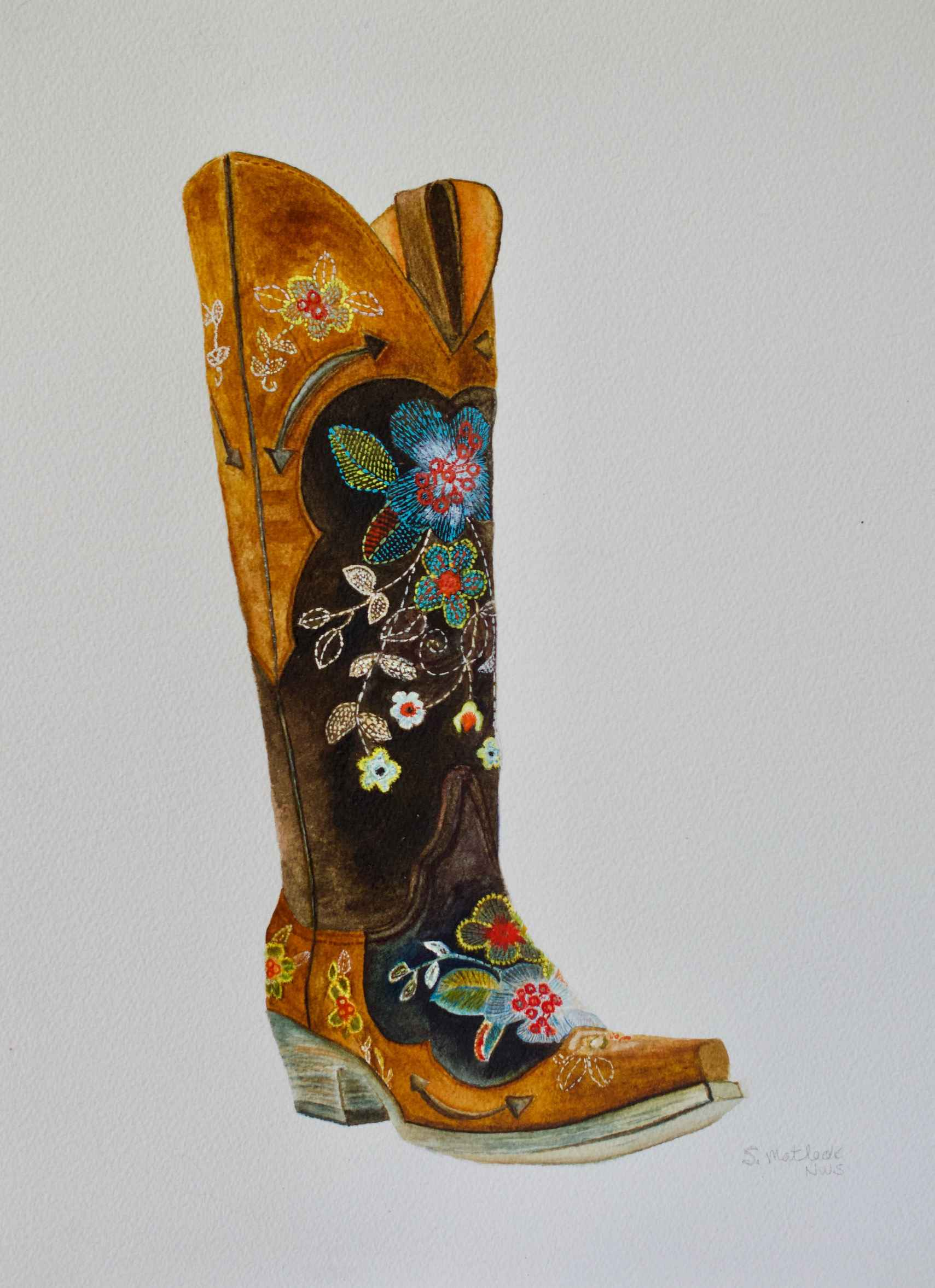 Flowered Boot by  Sherry Matlack - Masterpiece Online