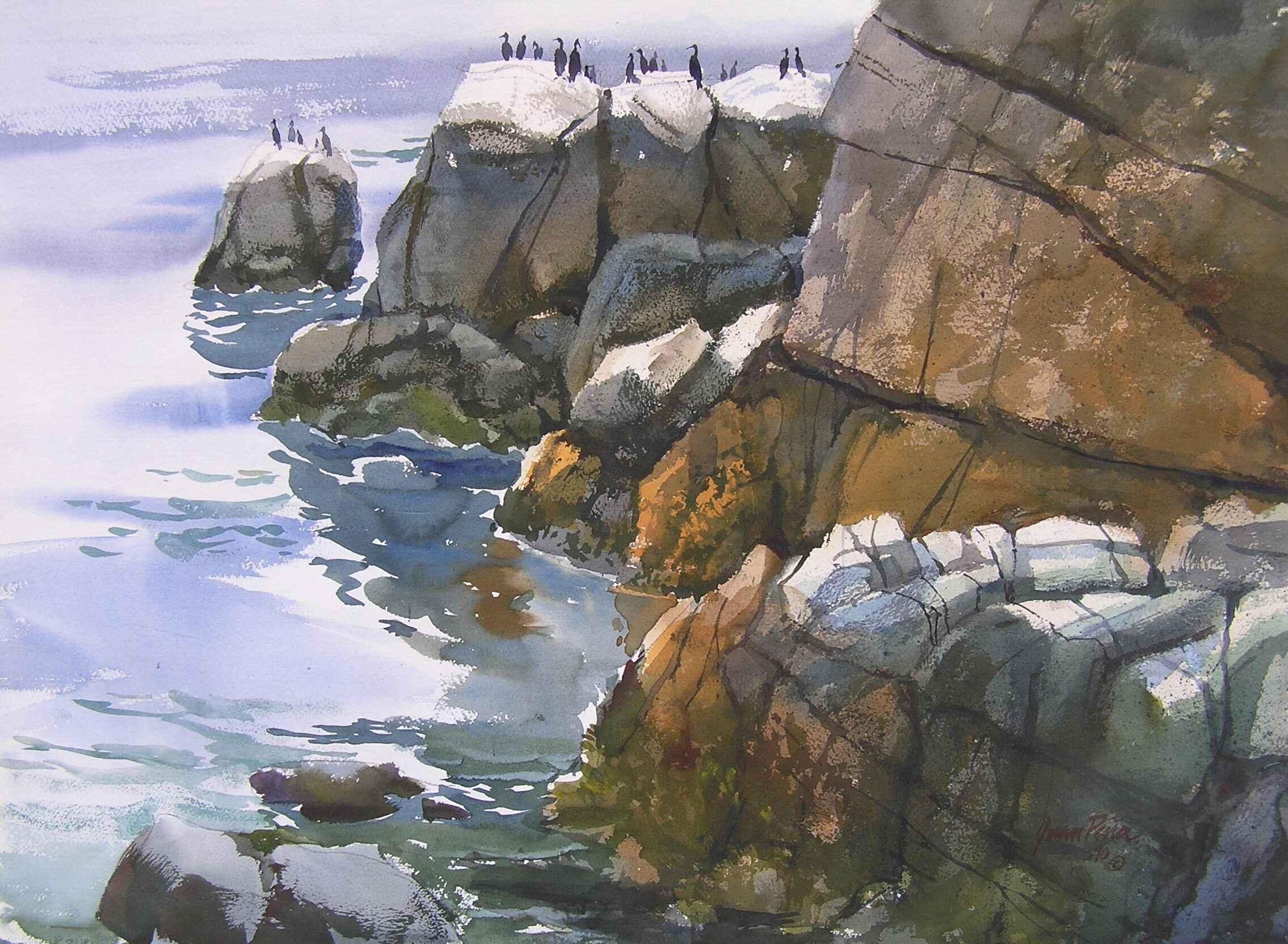 Cormorant Rock by  Juan Peña - Masterpiece Online