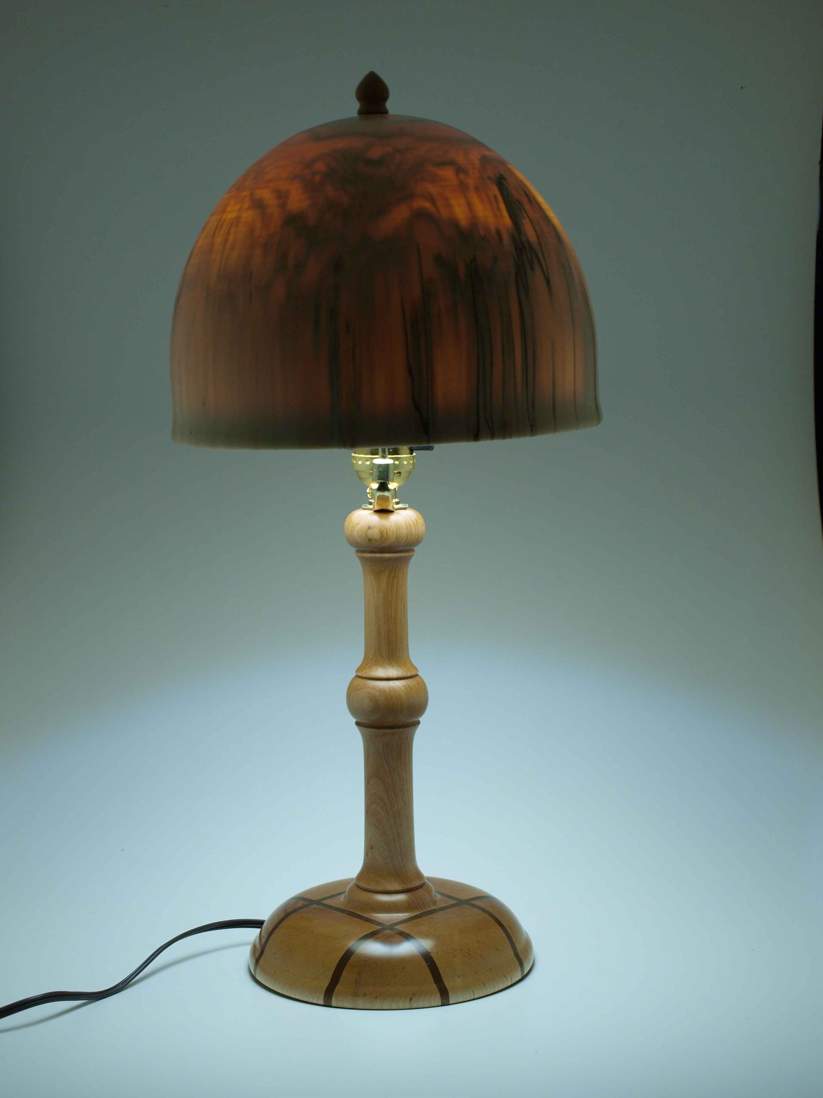 Three Wood Lamp #1
