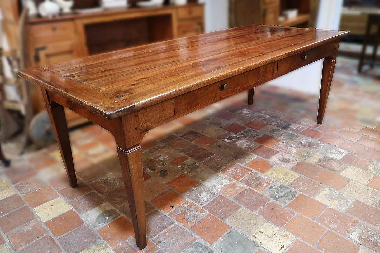 19th C. Italian Walnut Farm Table By