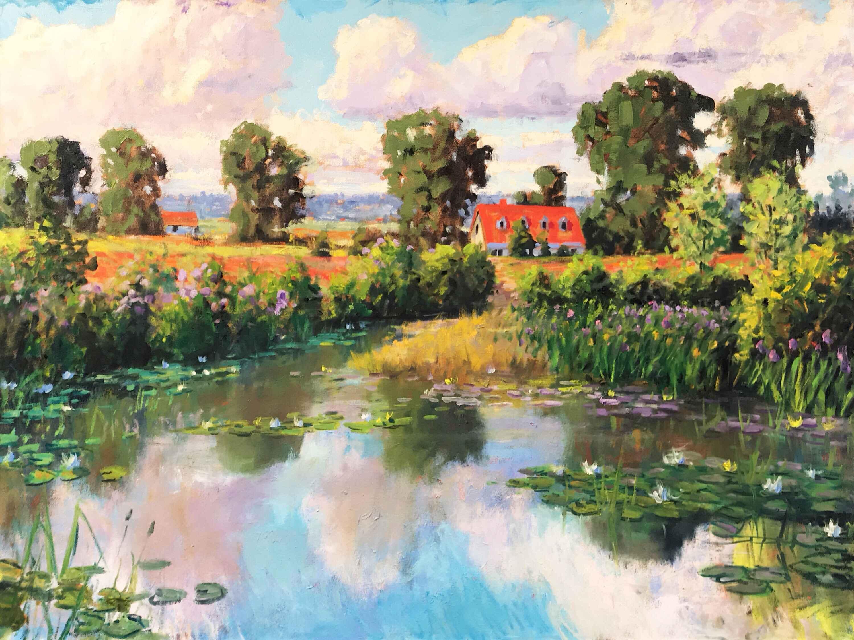 """""""Burgundy Landscape""""... by  Ron Hedrick - Masterpiece Online"""