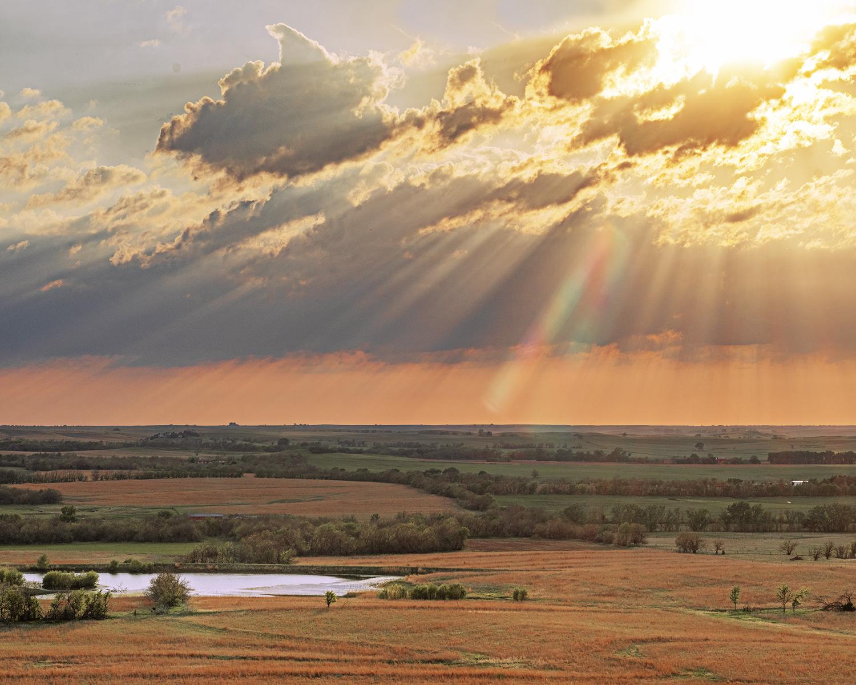 Setting Sun from Coro... by  George Jerkovich - Masterpiece Online
