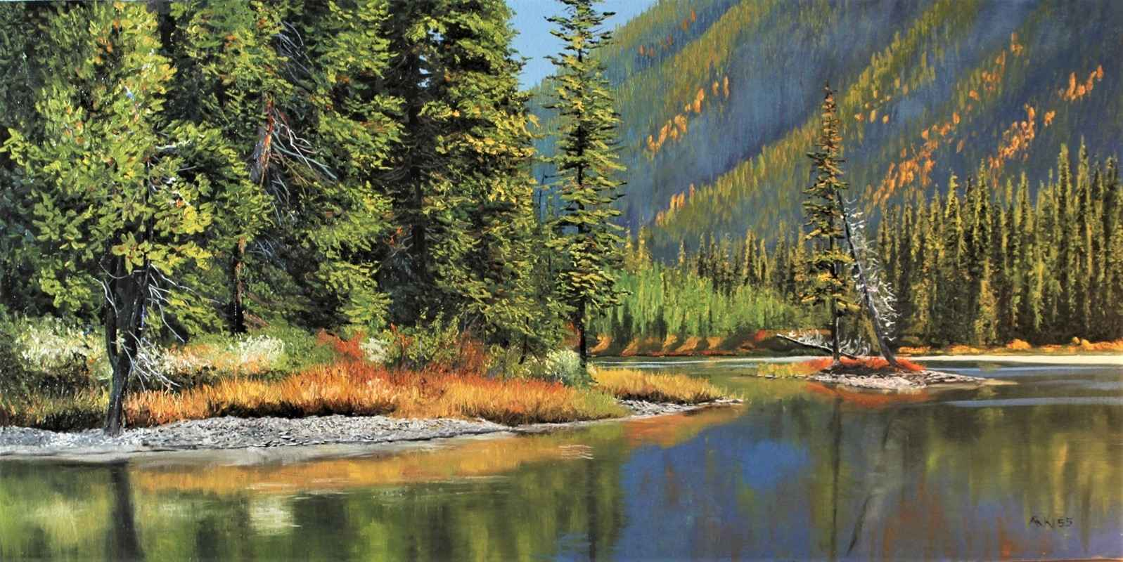 Mud Lake, Kananaskis by  Andrew Kiss - Masterpiece Online
