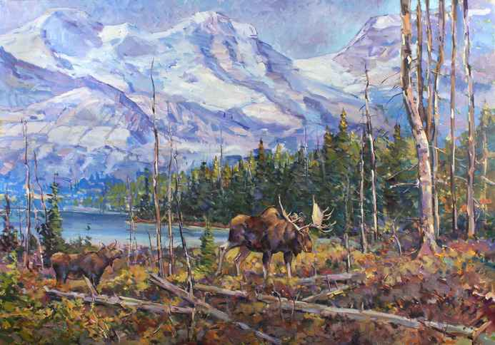 Cameron Lake, Waterton  by  Fred Cameron
