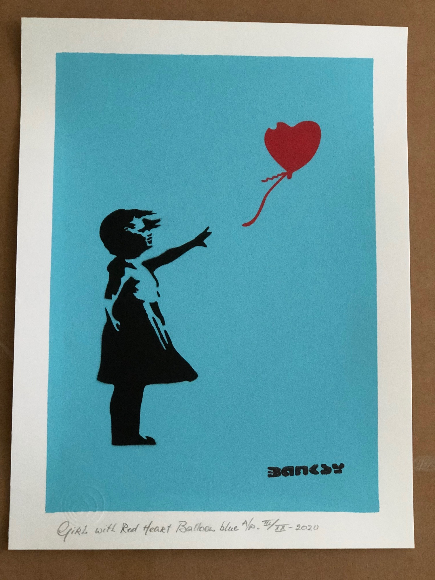 Girl with Red Heart B... by   Banksy - Masterpiece Online