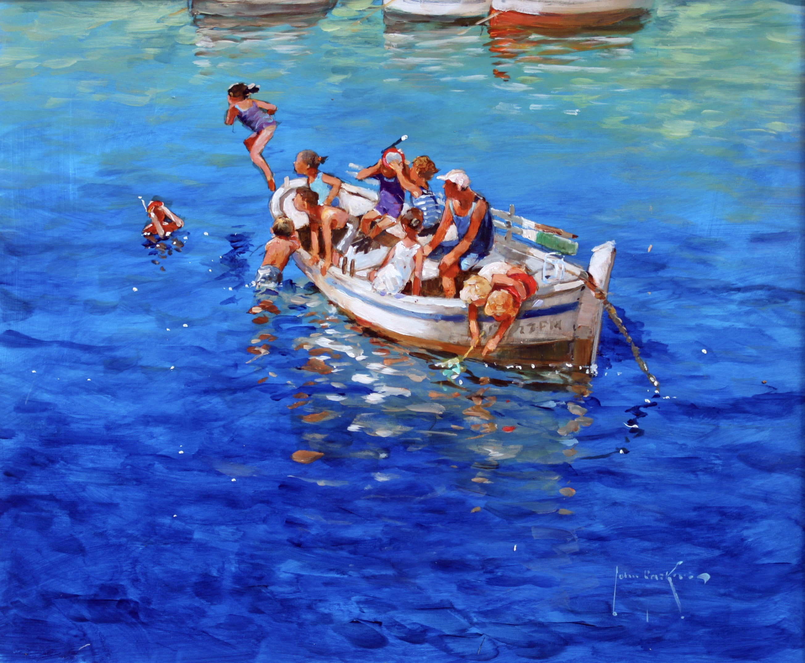 Swimming off the Litt... by  John Haskins - Masterpiece Online