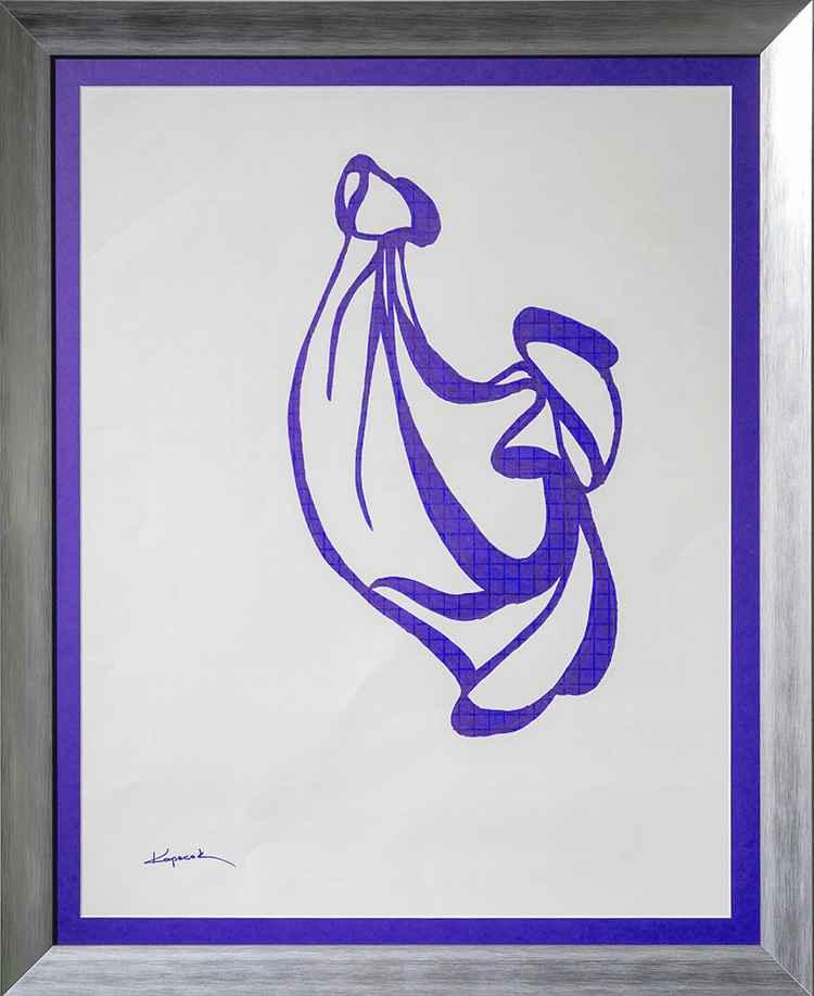 Sculpture Molle Bleue by Peter Kopecek