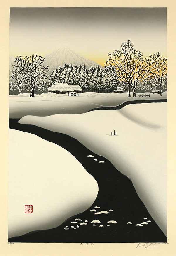Winter Scene by  Shufu Miyamoto - Masterpiece Online
