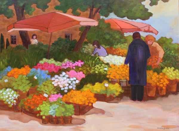 Le Marche aux Fleurs by  Lorraine  Jordan - Masterpiece Online