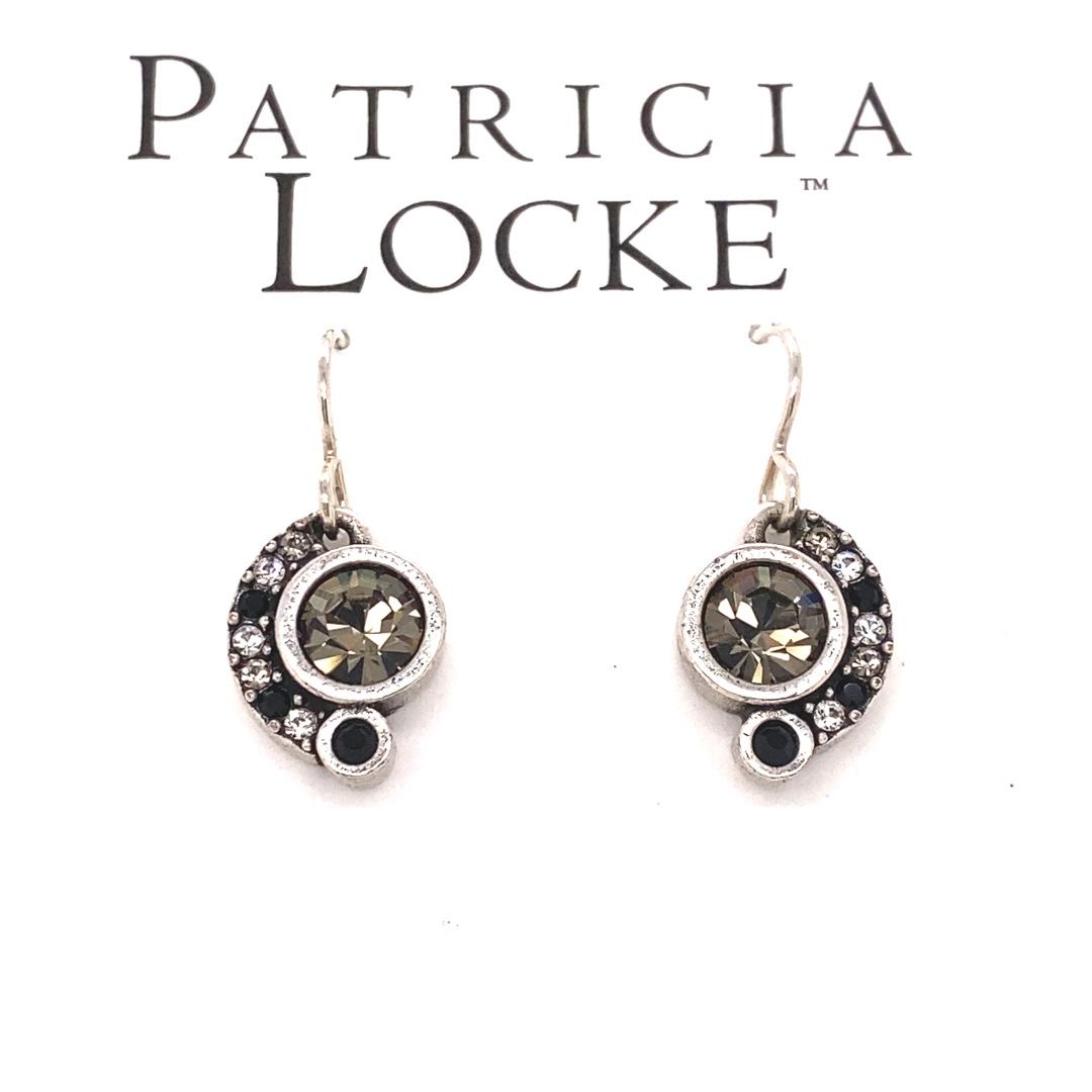 Ava Earrings in Silver, Black & White