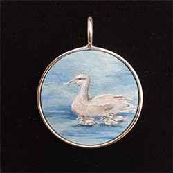 #197 Lrg Circle- Duck... by  Nell Mercier - Masterpiece Online