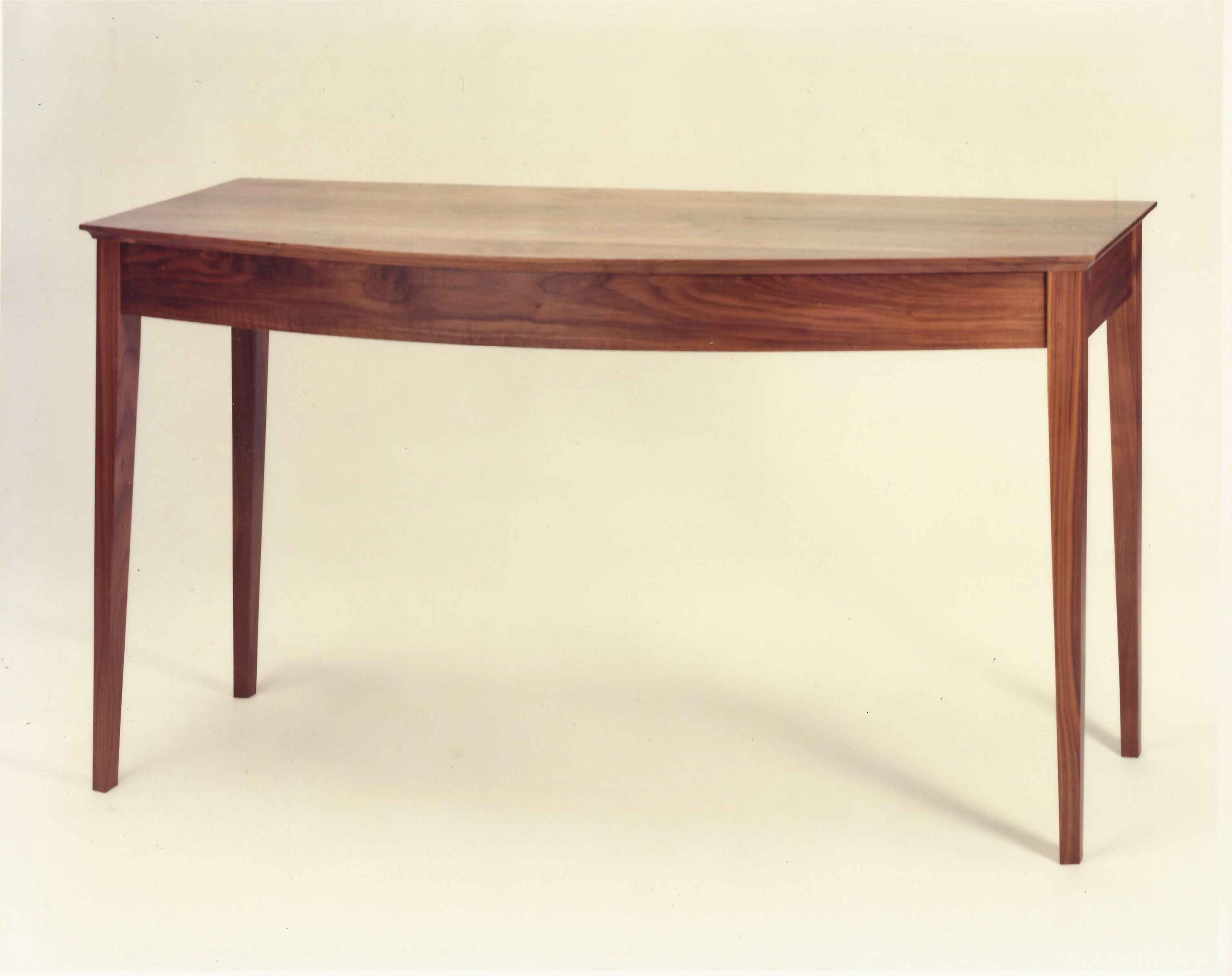 Walnut Bow Front Table by  Rex White - Masterpiece Online