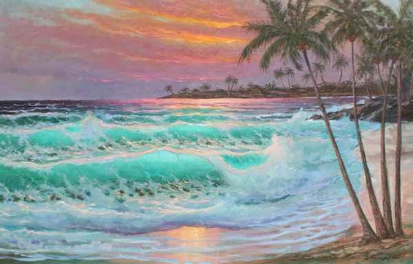 Kailua-Kona Sunset, H... by  A Dzigurski II - Masterpiece Online