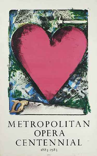 A Heart at the Opera,... by  Jim Dine - Masterpiece Online