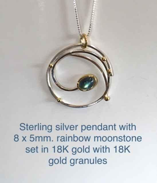Pendant with Rainbow ... by Mrs. Lana McMahon - Masterpiece Online