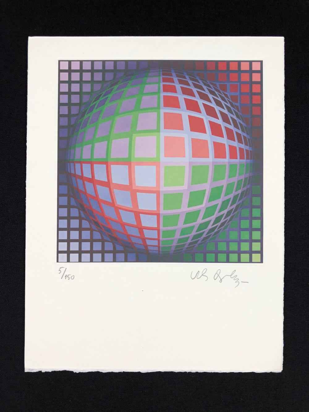 Vega-Pi Geometric S... by  Victor Vasarely - Masterpiece Online
