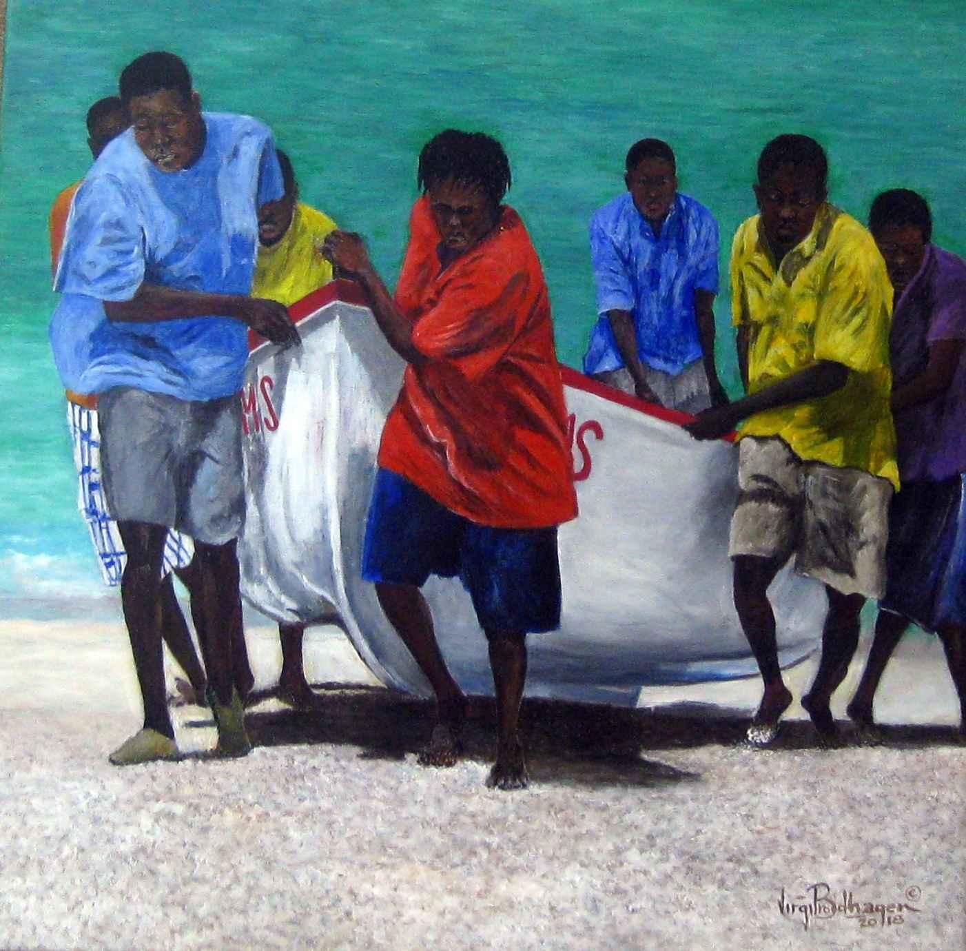 Hauling Up Pile Bay B... by Mr. Virgil Broodhagen - Masterpiece Online