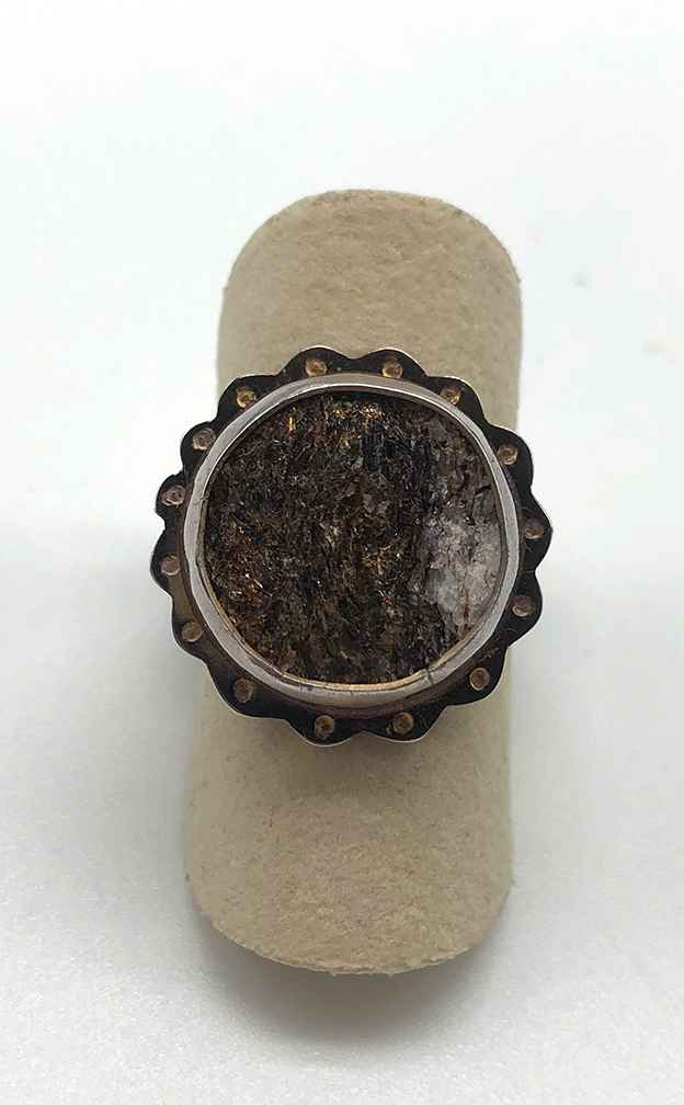 Sterling and Astropytite Ring Size 7.5