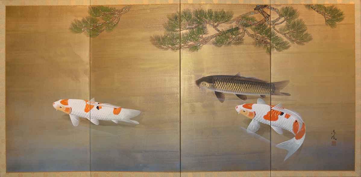 3 Carps by  Seifu Imamura - Masterpiece Online