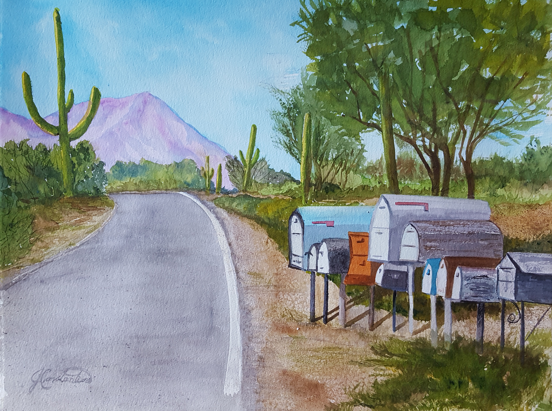 Westside Mailboxes by  Judy Constantine - Masterpiece Online