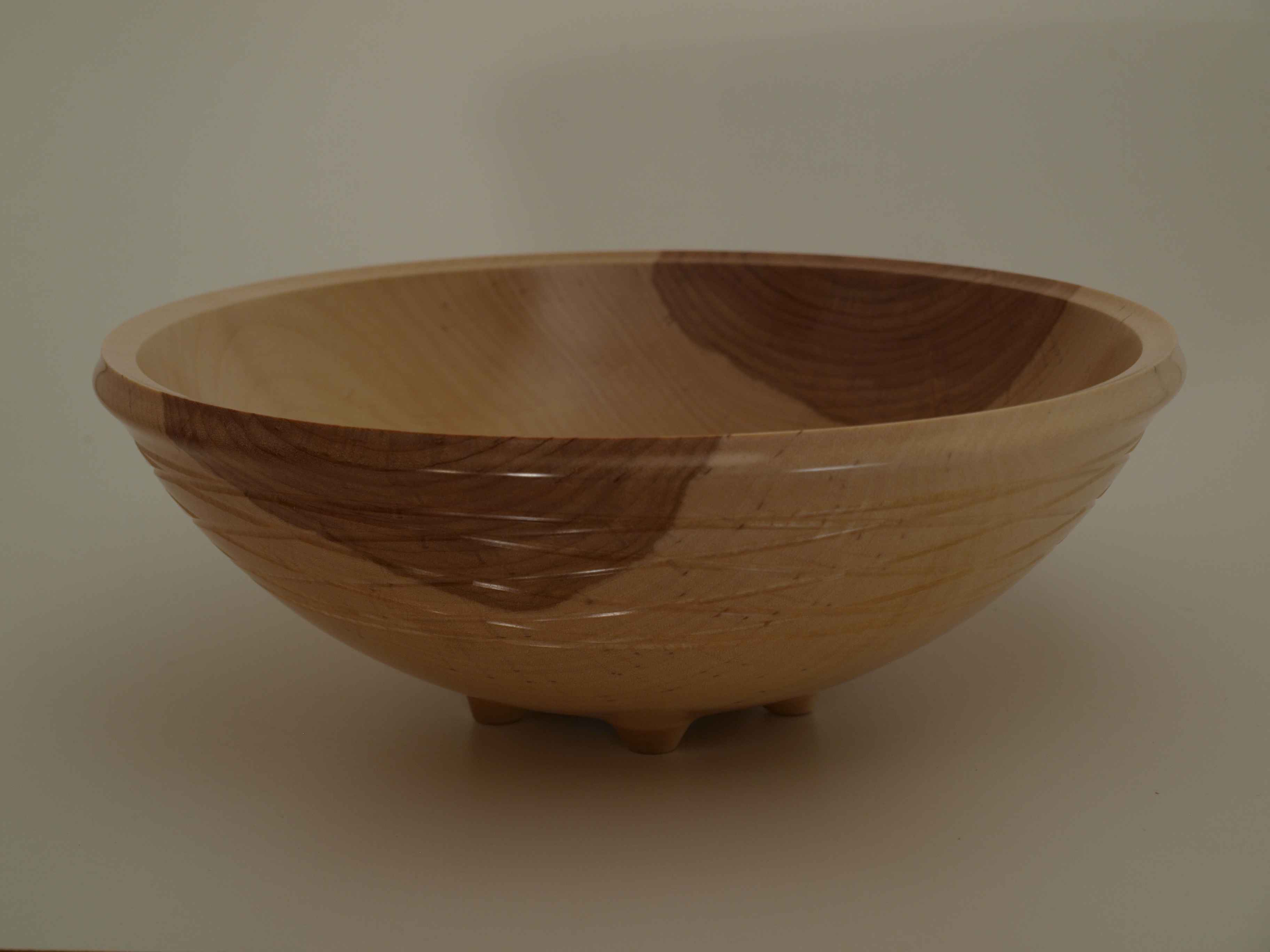 Birch Five-Footed Bowl