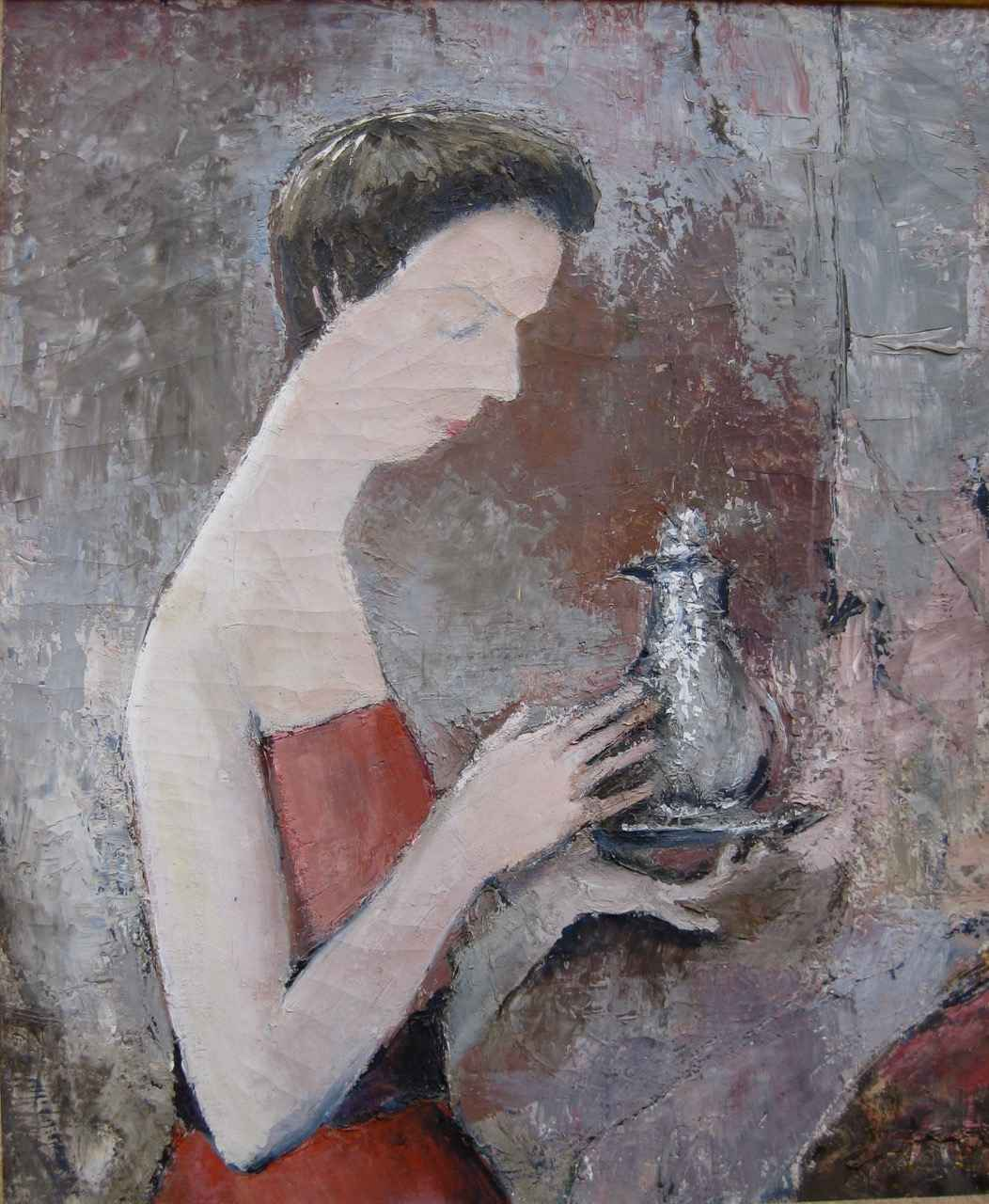Woman with Teapot by  Peter Hayward (1905-1993) - Masterpiece Online