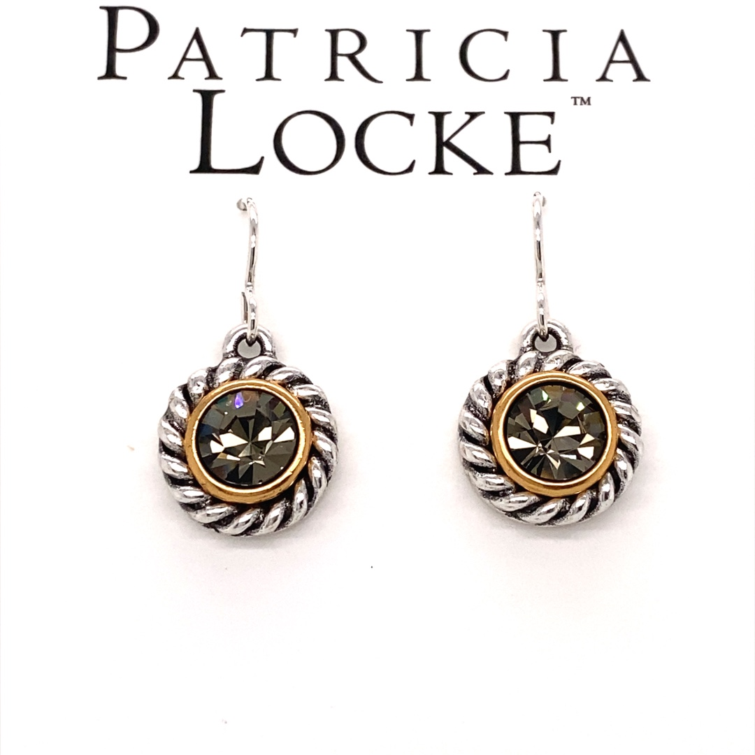 Philosopher's Stone Earrings in Silver, Black Diamond