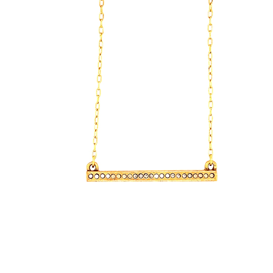 Axis Necklace in Gold, Champagne