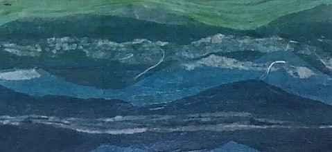 Unknown (Blue abstrac... by  Jean Egle - Masterpiece Online