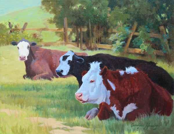 The Resting Herd by  Carolyne Hawley - Masterpiece Online