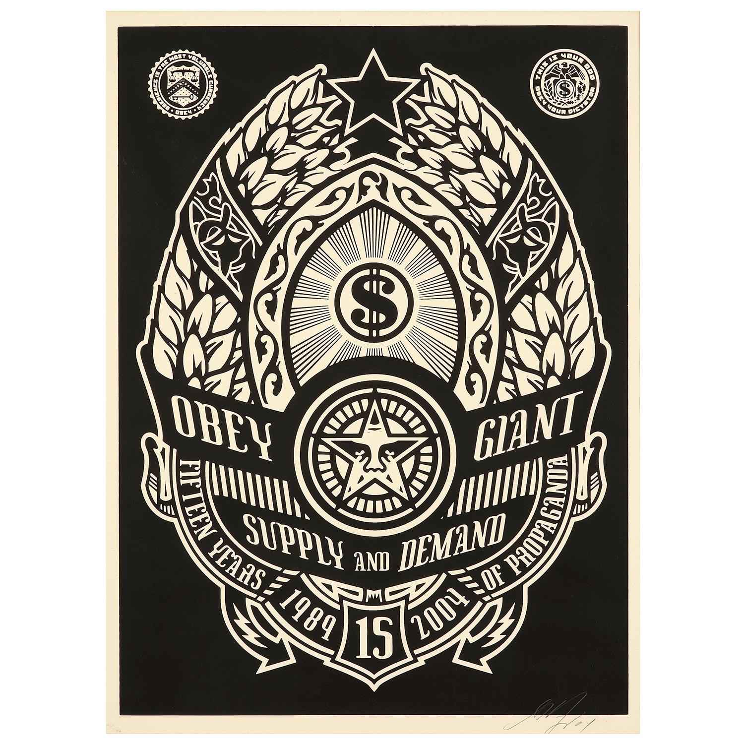 Supply and Demand Bla... by  Shepard Fairey - Masterpiece Online